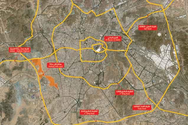 خريطة حدود الحرم المكي